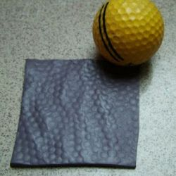 Textura con pelota de golf