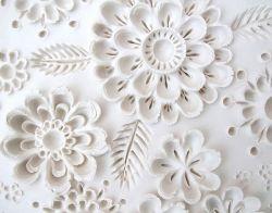 Flores en texturas de yeso