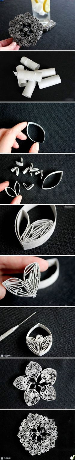 Elaboración de figuras con rollitos de papel
